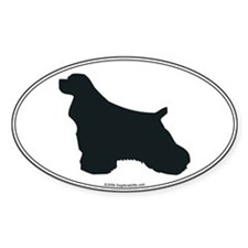 Cocker Spaniel Silhouette Oval Decal