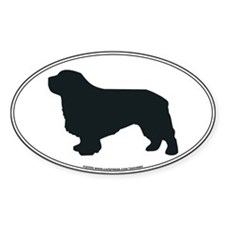 Clumber Spaniel Silhouette Oval Decal