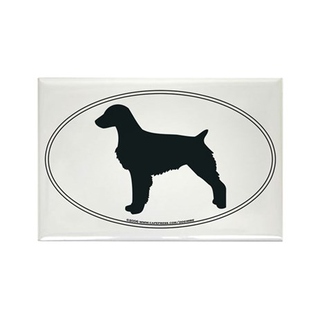 Brittany Silhouette Rectangle Magnet