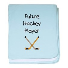 Future Hockey Player baby blanket