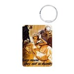 Keep Mum WWII Aluminum Photo Keychain