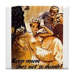 Keep Mum WWII Tile Coaster