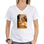 Keep Mum WWII Women's V-Neck T-Shirt