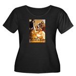 Loose L Women's Plus Size Scoop Neck Dark T-Shirt