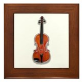 The Violin Framed Tile