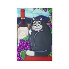Winery Cat Rectangle Magnet
