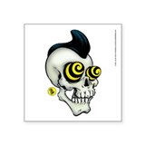 Pyschobilly Skully Vinyl Sticker (right)