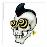 Psychobilly Skully Fridge Magnet