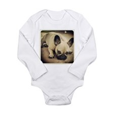 Im listening Long Sleeve Infant Bodysuit