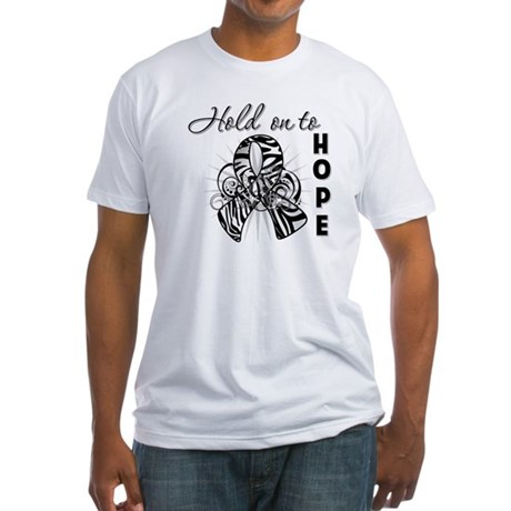 Carcinoid Cancer Hope Fitted T-Shirt