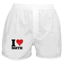 I Love Math Boxer Shorts