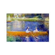 Renoir - The Skiff Rectangle Magnet