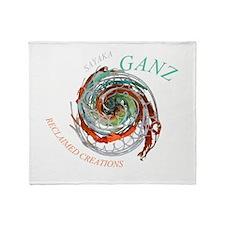 Swirl4 Throw Blanket