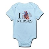 Cute I love nurse practitioner Infant Bodysuit