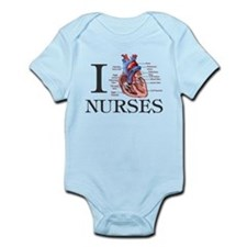 Cute I heart nursing Infant Bodysuit