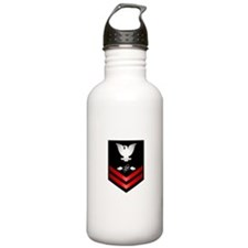 Navy PO2 Aviation Electronics Tech Sports Water Bottle