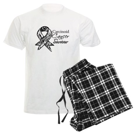 Carcinoid Cancer Survivor Men's Light Pajamas