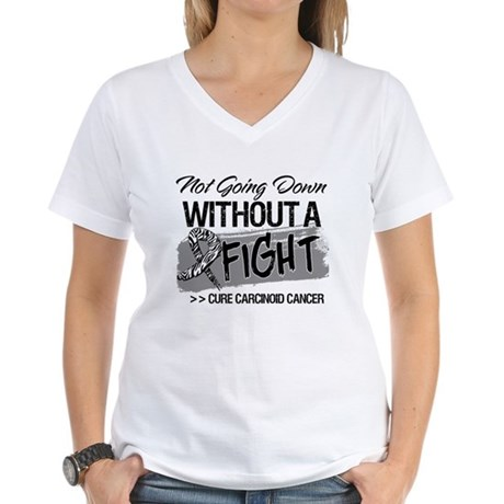 Not Going Down Carcinoid Women's V-Neck T-Shirt