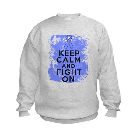 Stomach Cancer Keep Calm Fight On Kids Sweatshirt