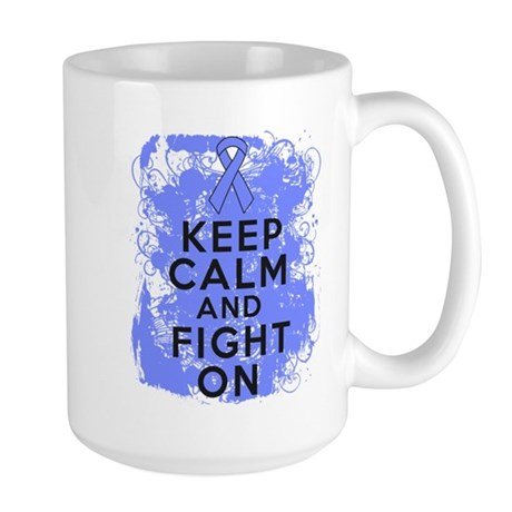 Stomach Cancer Keep Calm Fight On Large Mug