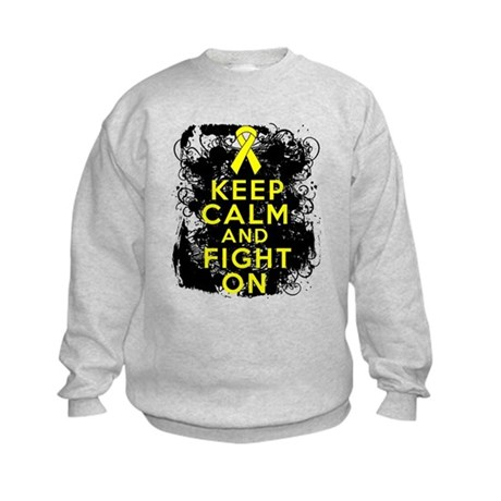 Sarcoma Keep Calm Fight On Kids Sweatshirt