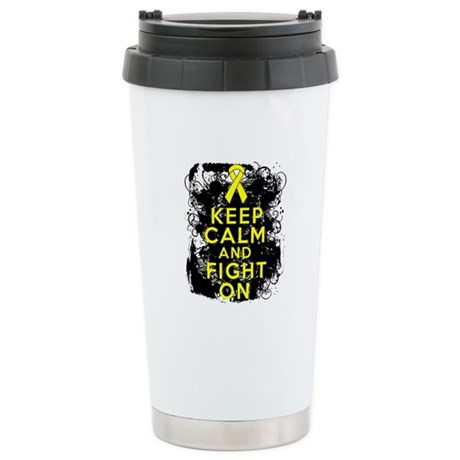 Sarcoma Keep Calm Fight On Ceramic Travel Mug