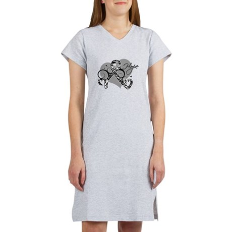 Carcinoid Cancer Hope Ribbon Women's Nightshirt