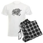 Carcinoid Cancer Hope Ribbon Men's Light Pajamas