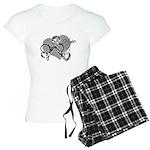 Carcinoid Cancer Hope Ribbon Women's Light Pajamas
