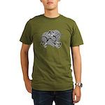 Carcinoid Cancer Hope Ribbon Organic Men's T-Shirt