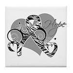 Carcinoid Cancer Hope Ribbon Tile Coaster