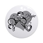 Carcinoid Cancer Hope Ribbon Ornament (Round)