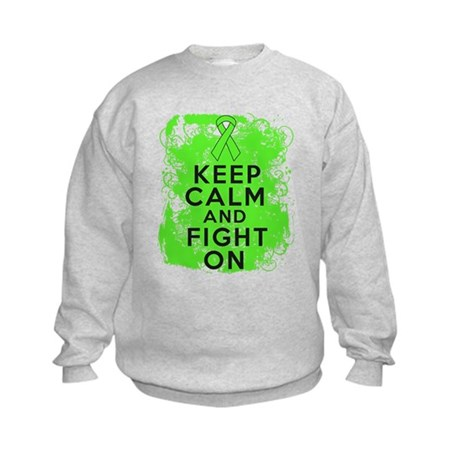 Lymphoma Keep Calm Fight On Kids Sweatshirt