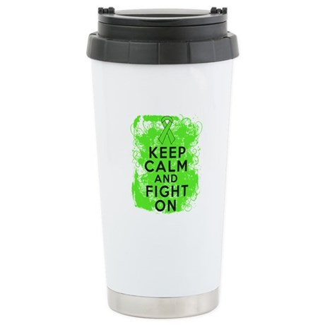 Lymphoma Keep Calm Fight On Ceramic Travel Mug