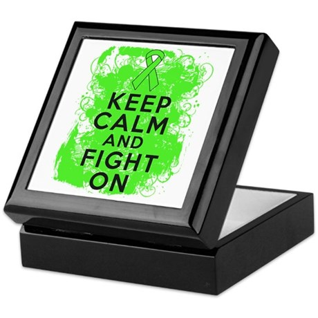 Lymphoma Keep Calm Fight On Keepsake Box
