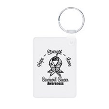 Hope Strength Carcinoid Cancer Keychains