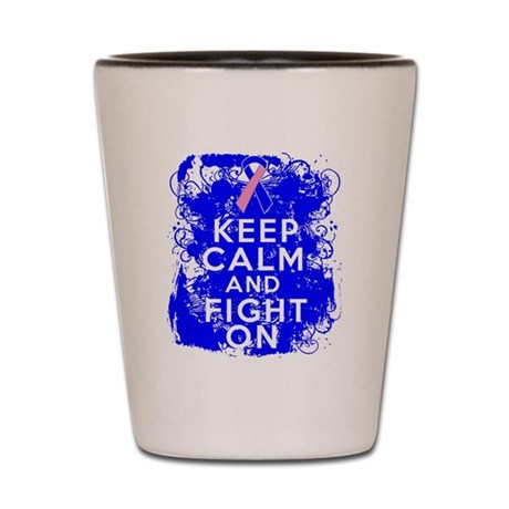 Male Breast Cancer Keep Calm Fight On Shot Glass