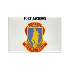Fort Jackson with Text Rectangle Magnet