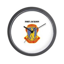 Fort Jackson with Text Wall Clock