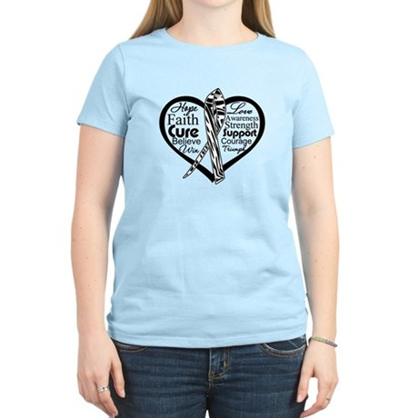 Heart Carcinoid Cancer Women's Light T-Shirt