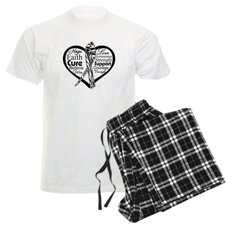 Heart Carcinoid Cancer Men's Light Pajamas