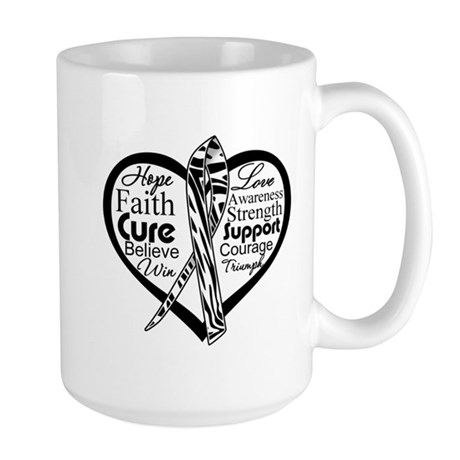 Heart Carcinoid Cancer Large Mug
