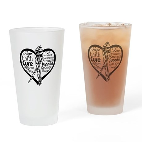 Heart Carcinoid Cancer Drinking Glass