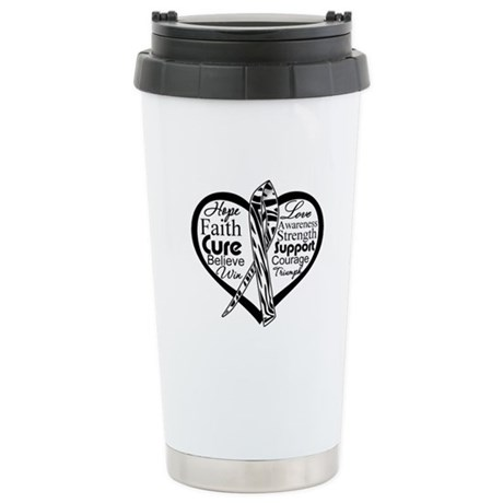Heart Carcinoid Cancer Ceramic Travel Mug