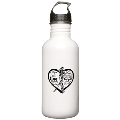 Heart Carcinoid Cancer Stainless Water Bottle 1.0L