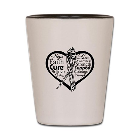 Heart Carcinoid Cancer Shot Glass