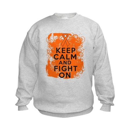 Leukemia Keep Calm Fight On Kids Sweatshirt
