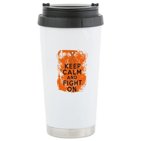 Leukemia Keep Calm Fight On Ceramic Travel Mug