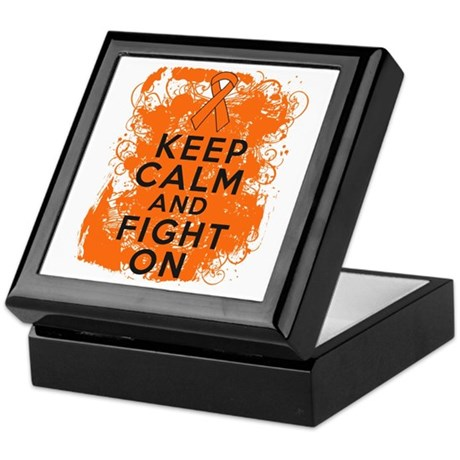 Leukemia Keep Calm Fight On Keepsake Box
