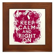 Head Neck Cancer Keep Calm Fight On Framed Tile